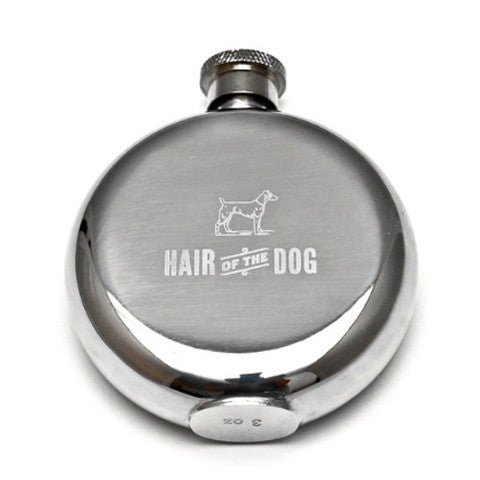 3oz 'Hair Of The Dog' Whisky Flask by Izola