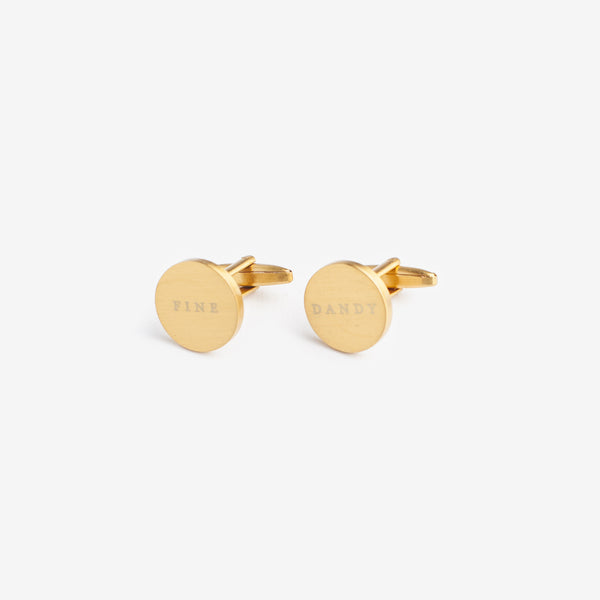 Fine and Dandy Brass Cufflinks by Izola | ITALIC & BOLD
