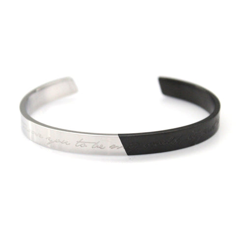 Italic Bracelet Silver/Black by Imperial United