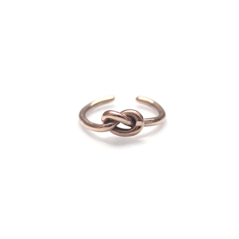 Knot Ring Rose Gold by Imperial United