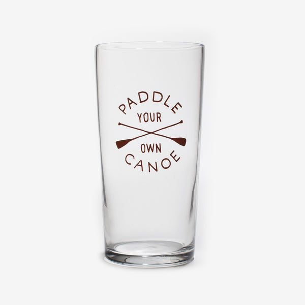 Paddle Your Own Canoe Pint Glass by Izola | ITALIC & BOLD