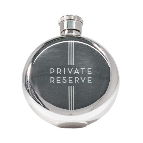 3oz 'Private Reserve' Whisky Flask by Izola