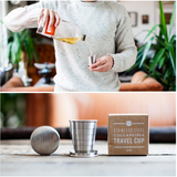 'Salut' Travel Cup by Izola NYC, bar accessories for the gentlemen