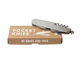 Be Brave and True Pocket Knife by Izola Packaging