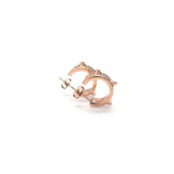 Spike Earrings Pink Gold