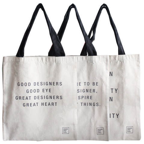 Canvas Tote Bags by Design Says Hello