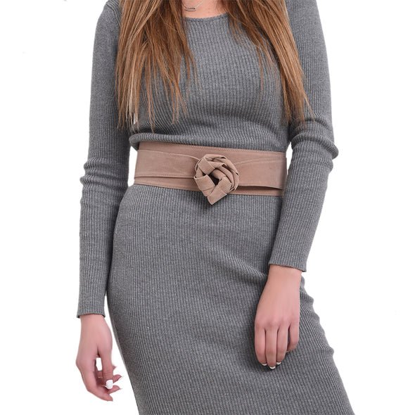 WRAP BELT - BEIGE SUEDE