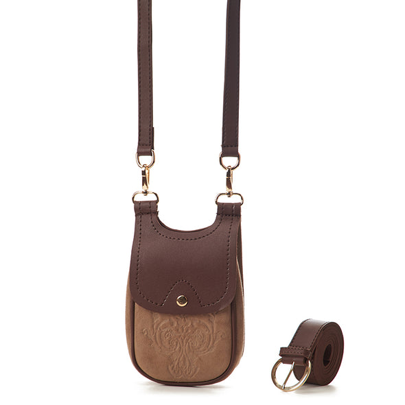 MISKA MOBILE BAG - BROWN x KHAKI