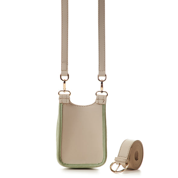 MISKA MOBILE BAG - MINT GREEN x BEIGE