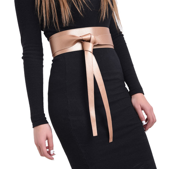 WRAP BELT - ROSE GOLD