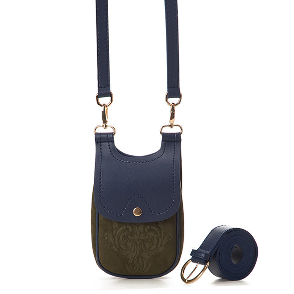MISKA MOBILE BAG - PINE GREEN x NAVY