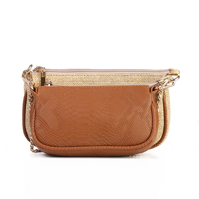 ANYA double pouch - CAMEL