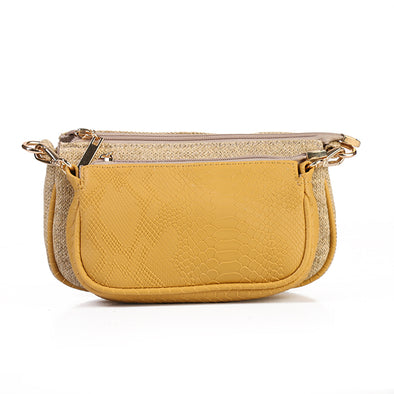 ANYA double pouch - YELLOW