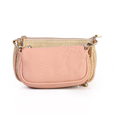 ANYA double pouch - PINK