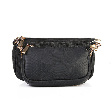 ANYA double pouch - BLACK