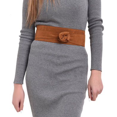 WRAP BELT - CAMEL SUEDE