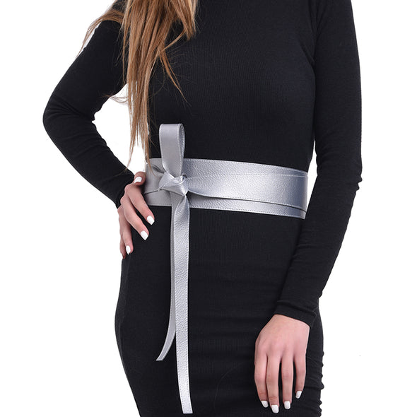 WRAP BELT - SILVER GREY
