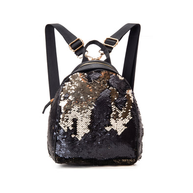 GLITZY BACKPACK - BLACK x GOLD
