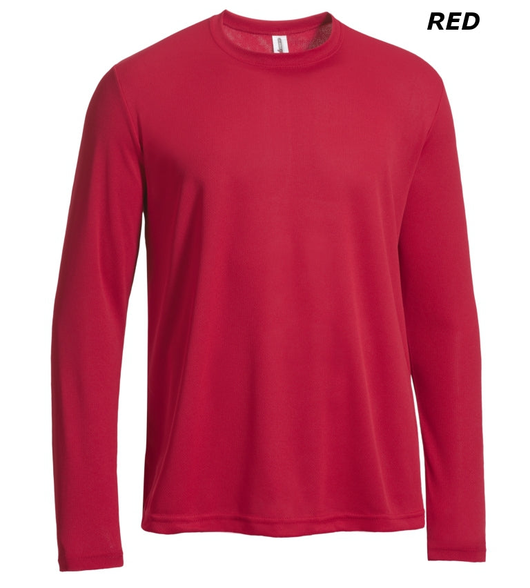 AJ901D Men's Long Sleeve Tec Tee