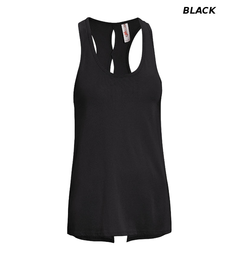 MC285 Women's Split-Dash Racerback Tank