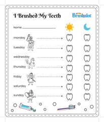 7 Day Tooth Brushing Chart