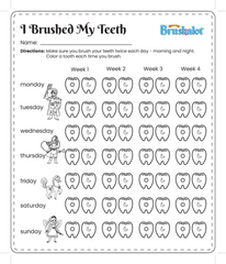 30 Day Tooth Brushing Chart