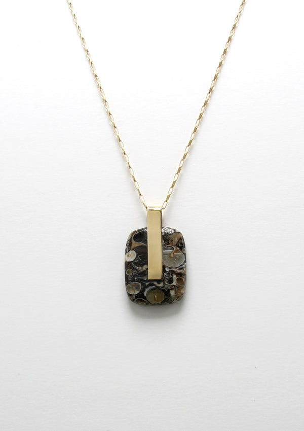 SOLA NECKLACE / BLACK JASPER