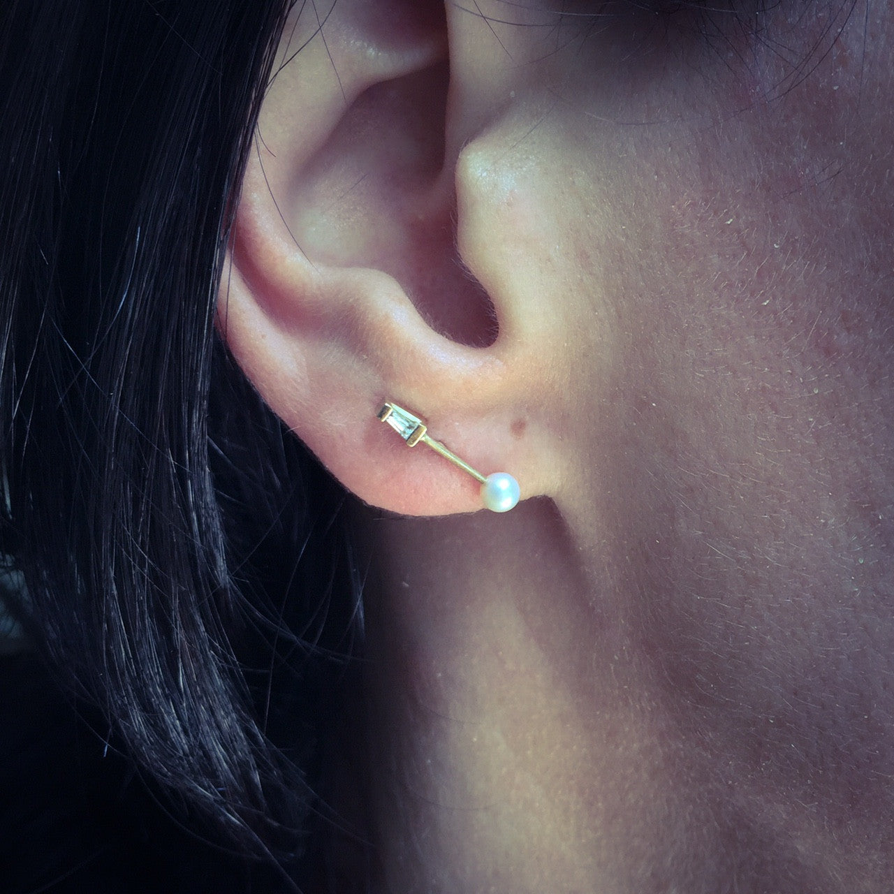 TETRA DIAMOND DOUBLE STUD