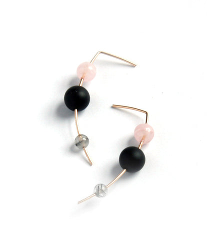 Orion Drop Earring / Rose Quartz