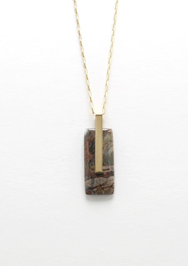SOLA NECKLACE / MULTICOLOR JASPER I