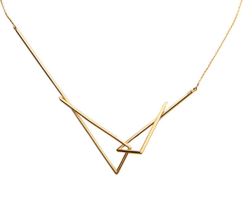 INTERLOCKING FOUR-POINT NECKLACE / ASYMMETRICAL