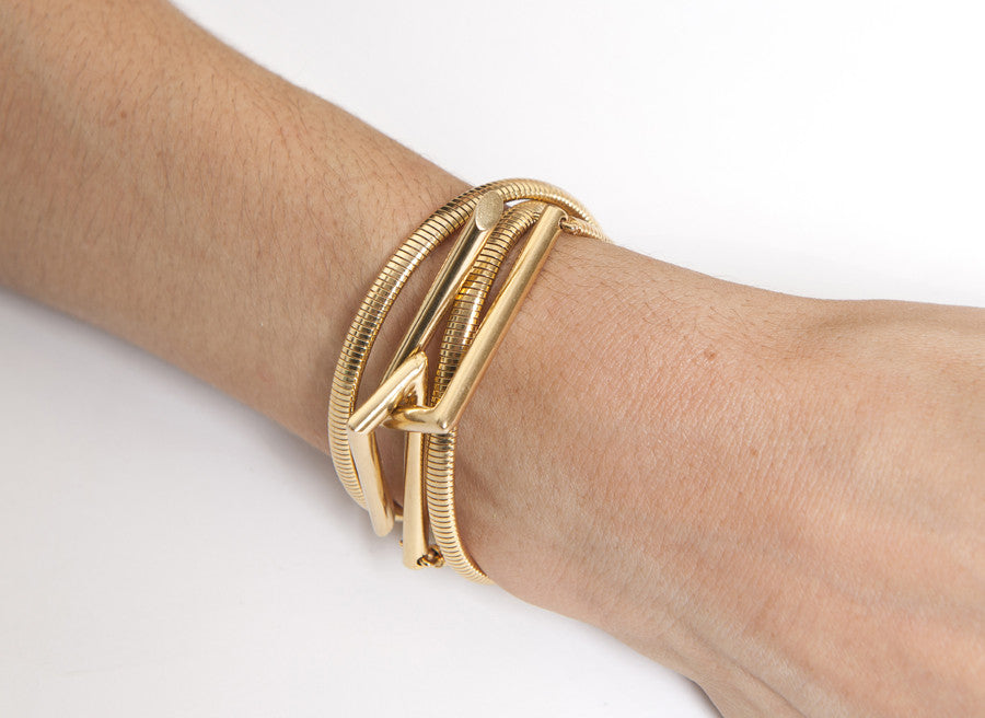 INTERLOCKING WRAP BRACELET