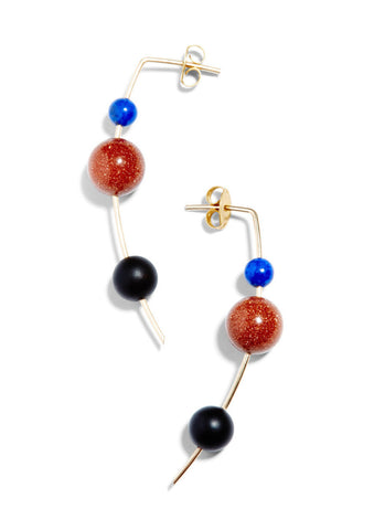 Orion Drop Earring / Lapis