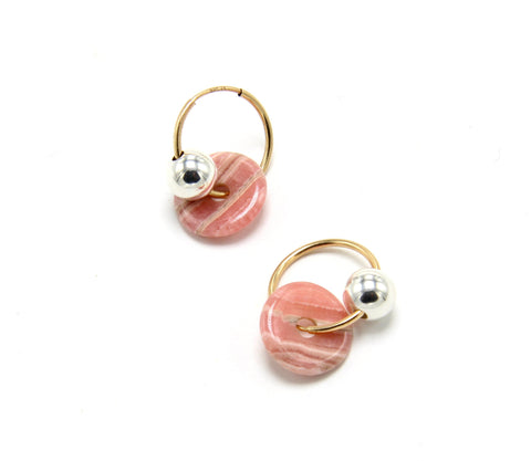 Mini Orbis Earrings / Rhodo