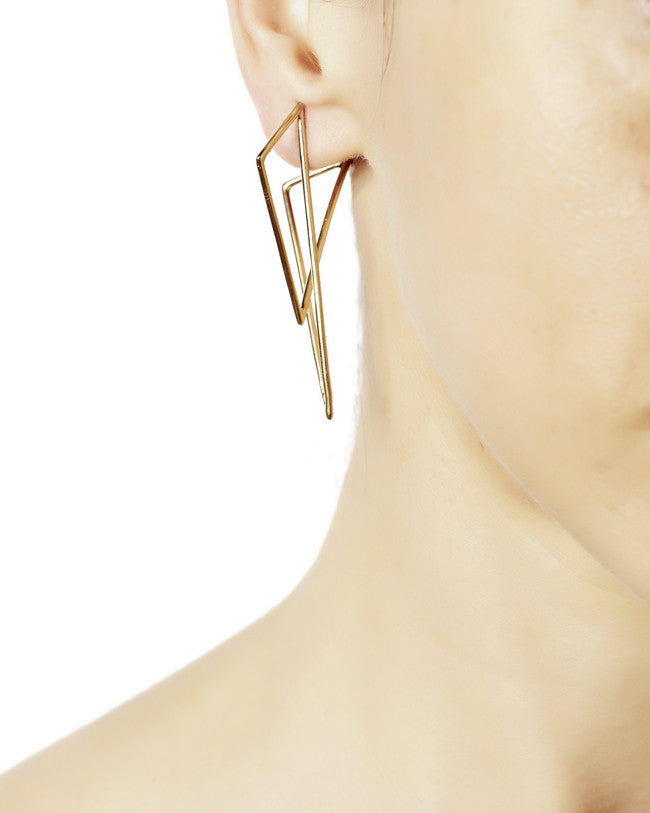 SIX POINT EARRING / LG