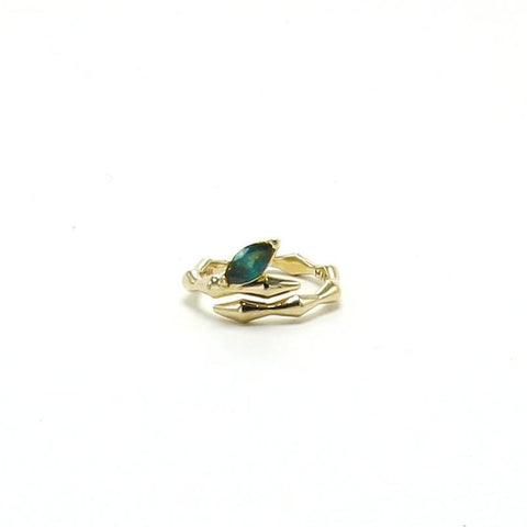 ONDA WRAP RING / GREEN TOURMALINE