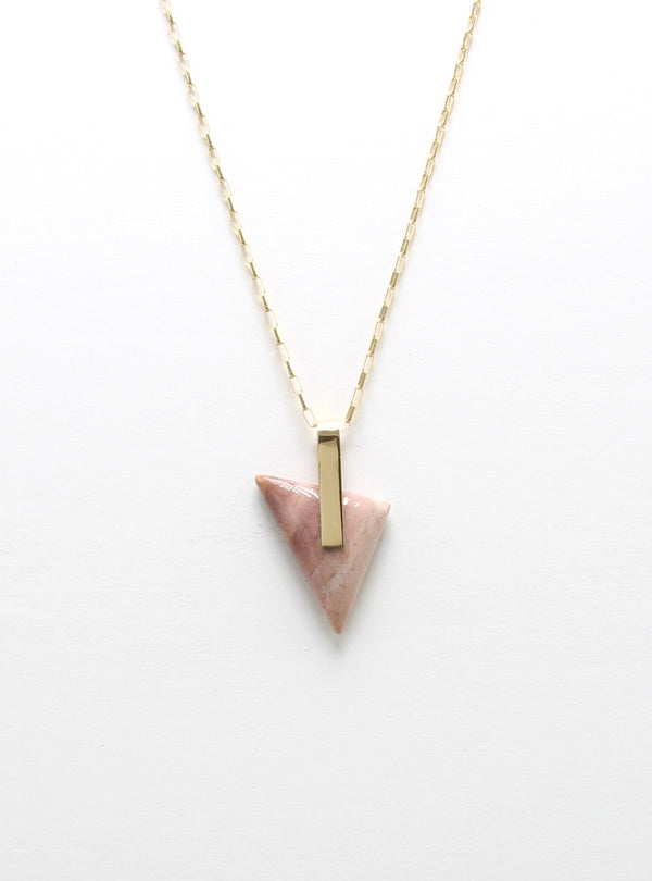 SOLA NECKLACE / PINK JASPER