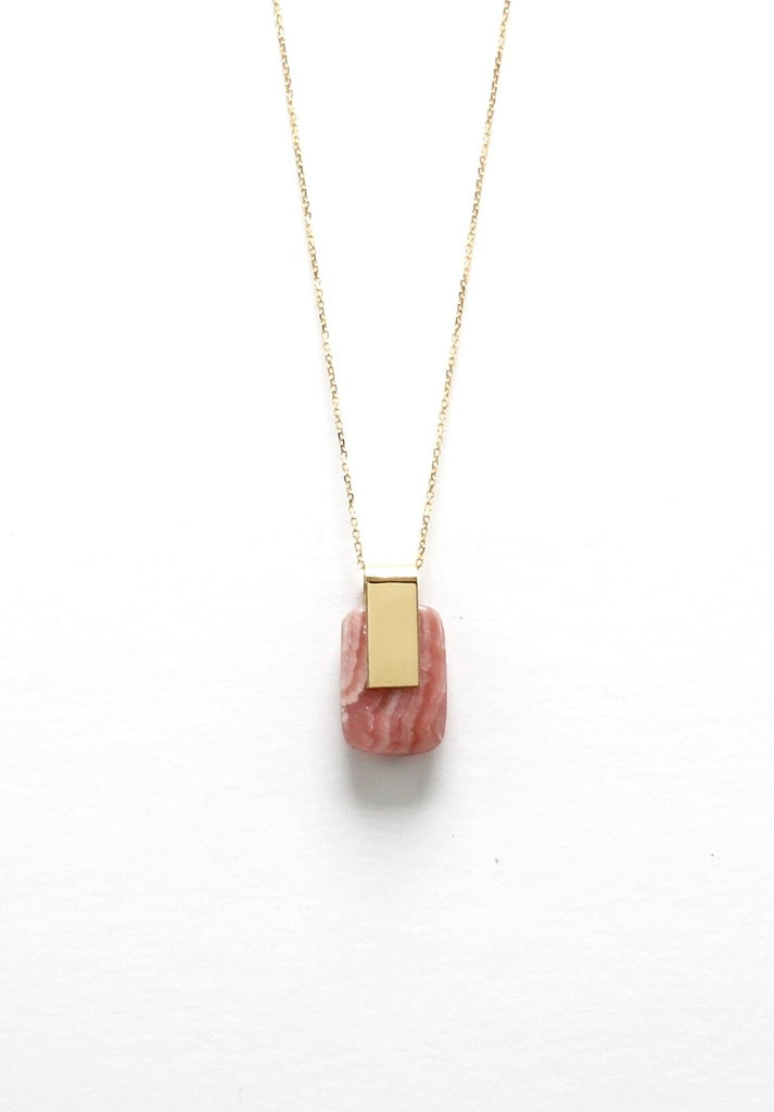 SOLA NECKLACE / RHODOCHROSITE