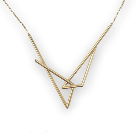 INTERLOCKING FOUR-POINT NECKLACE