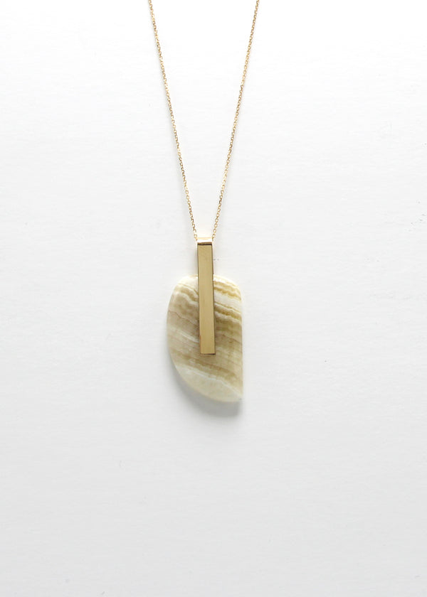 SOLA NECKLACE / WHITE JASPER II