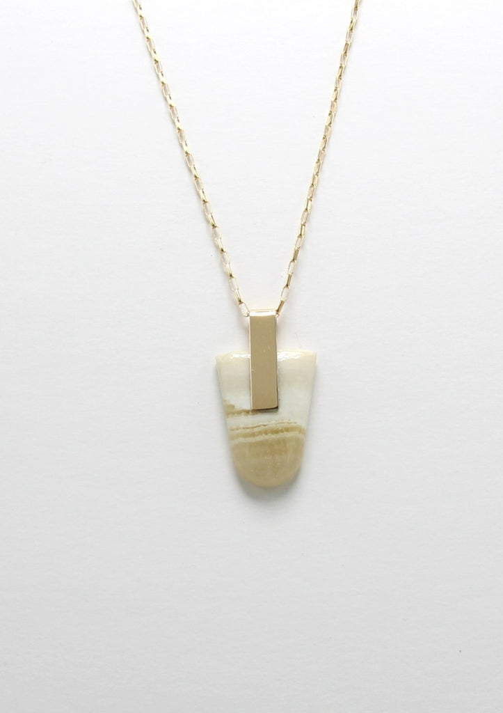 SOLA NECKLACE / WHITE JASPER I
