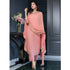Peach Color Kurta Set With Heavy Dupatta