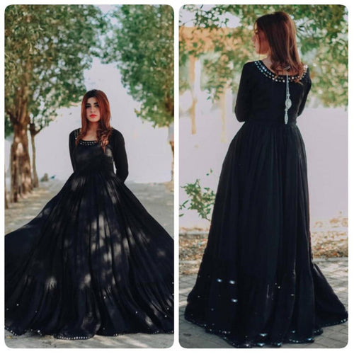 Beautiful Black Colo  Long Gown For Girl