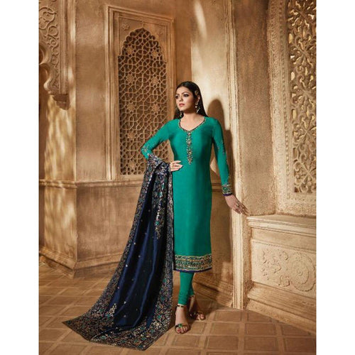 Stylish Bollywood Beautiful Rama Color Salwar Suit Collation