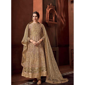 Designer Ceram Color Anarkali Suit For Girls