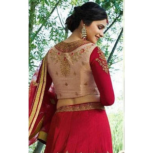 Fancy Wedding Wear Red Color Lehenga Choli For Girls
