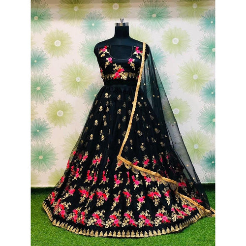 Festive Wear Fancy Black Color Lehenga Choli