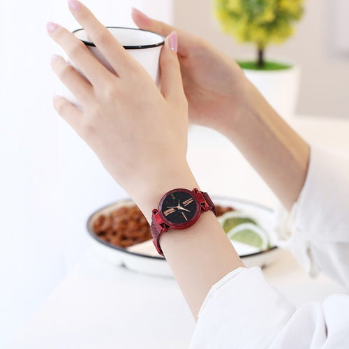 Red Magnetic Starry Sky Watch