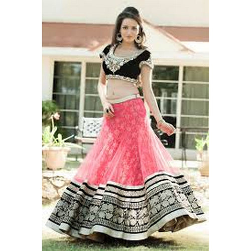 Fancy Baby Pink Worked Lahenga Choli For Girls