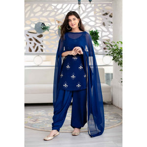Trending Festival Wear Blue Color Sharara Suit